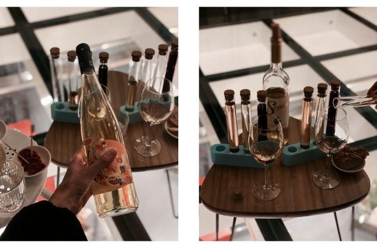 Design & Wijn, wijnproeven